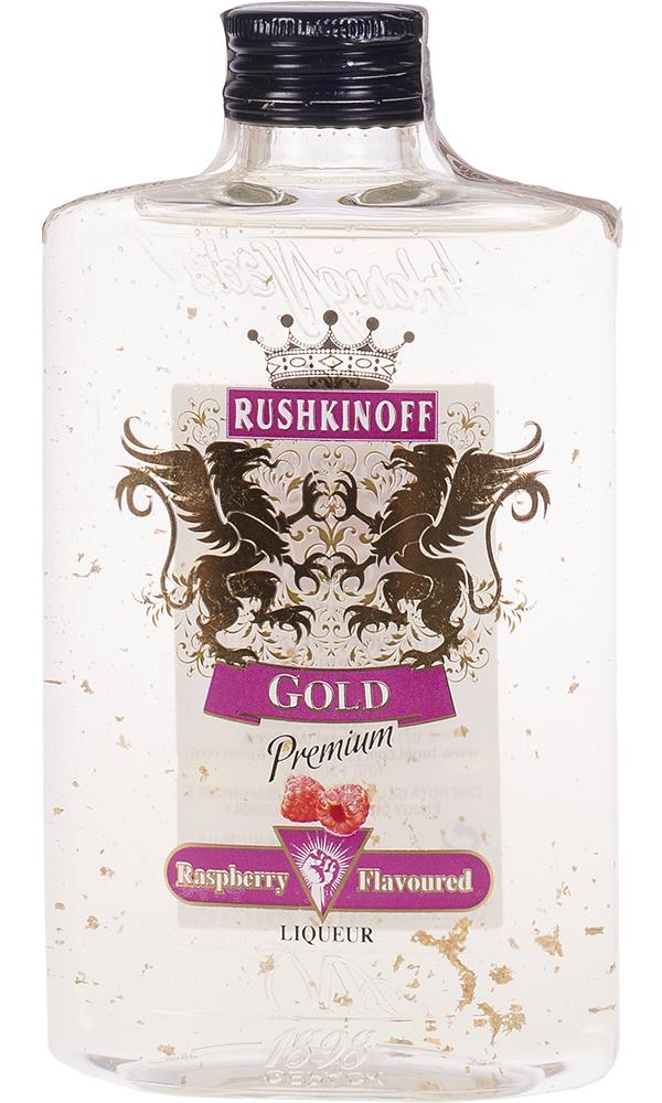 Vodka Rushkinoff Gold Frambuesa Petaca 35cl