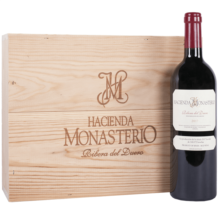 Hacienda Monasterio Tinto 75cl Caja Madera 3 Botellas