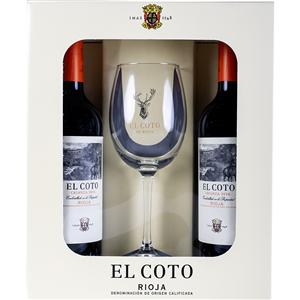 Pack El Coto Crianza 2 Botellas 75cl + 1 Copa