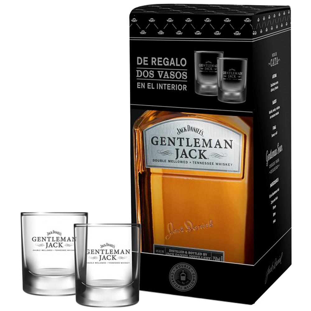 Bourbon Jack Daniel´s Gentleman Jack 70cl Estuche + 2 vasos