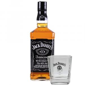 Bourbon Jack Daniel´s 70 cl Estuche + Vaso Rock