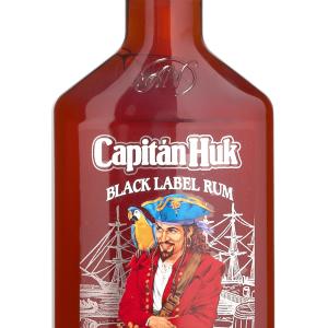 Ron Capitán Huk Black Petaca Plástico 35cl