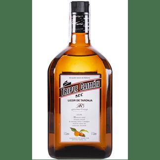 Licor Triple Seco Caimán 1 Litro Botella Marrón