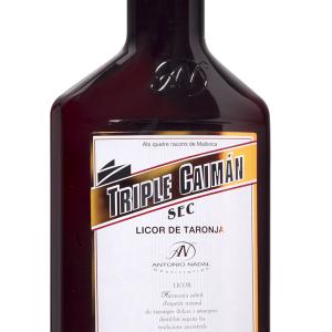 Licor Triple Seco Caimán Petaca Plástico 35cl