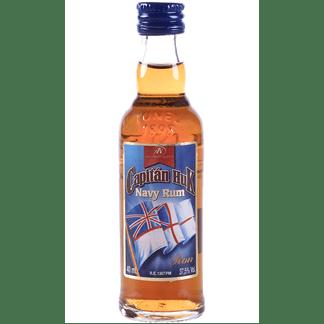 Ron Capitán Huk Etiqueta Azul Miniatura 4cl