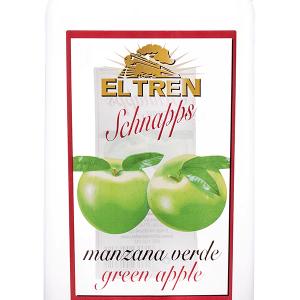 Chupito El Tren Manzana Verde Petaca Plástico 1 Litro