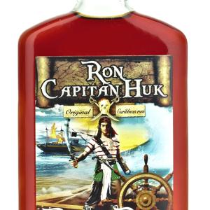 Ron Capitán Huk Black Petaca 20cl