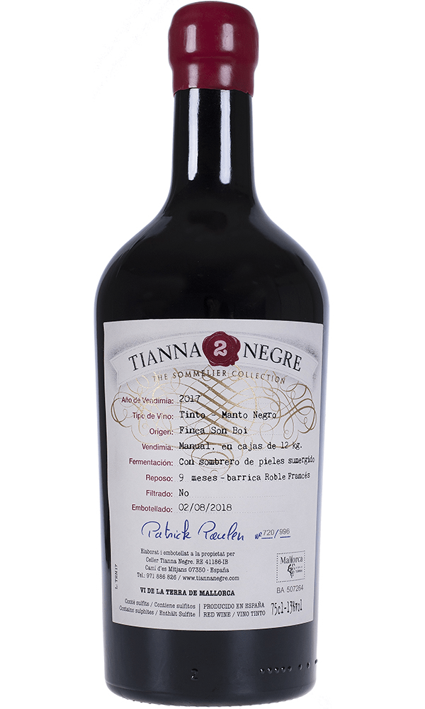 Tianna 2 Negre Manto Negro The Sommelier Collection Tinto 75cl