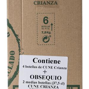 Lote Cune Tinto Crianza 4 Botellas 75cl + 2 Botellas Cune Tinto Crianza 37,5cl