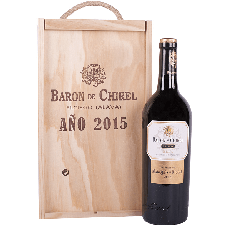 Barón de Chirel Tinto Reserva 75cl Caja Madera 2 Botellas