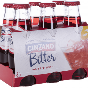 Bitter Cinzano Pack 6 Botellines 10cl
