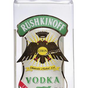 Vodka Rushkinoff Citron Petaca Plástico 1 Litro