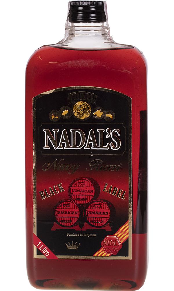 Ron Nadal Etiqueta Negra Plástico Redonda 1 Litro