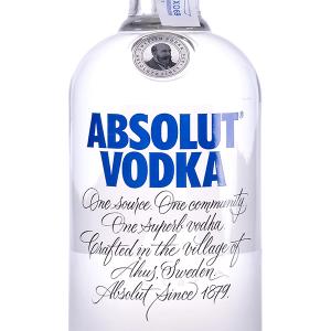 Vodka Absolut Azul sin Dosificador 70cl Tapón Rosca