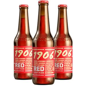 Cerveza Estrella Galicia 1906 Red Vintage Botellín 33cl Caja 24 u.