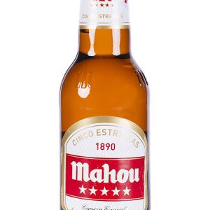 Cerveza Mahou 5 Estrellas Botellín 33cl Caja 24 u.
