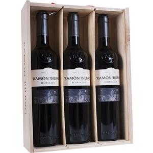 Ramón Bilbao Tinto Reserva 75cl Caja Madera 3 botellas