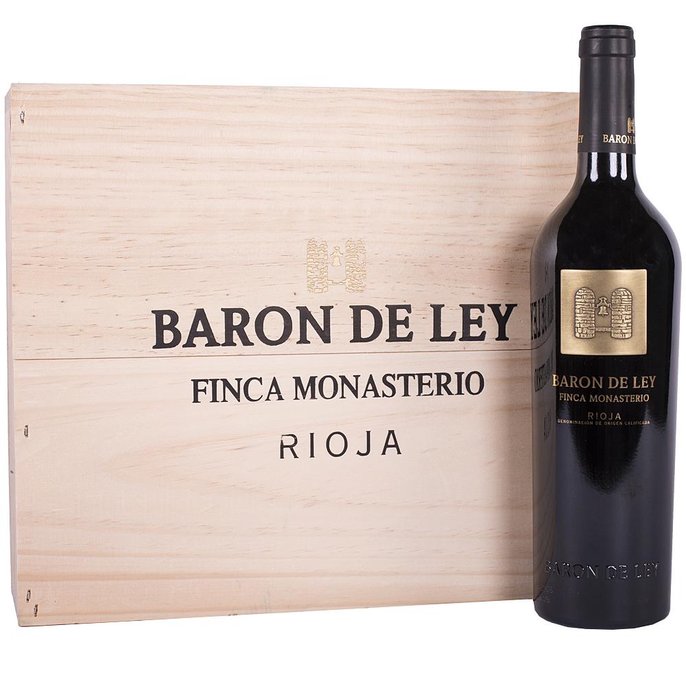 Barón de Ley Finca Monasterio Tinto 75cl Caja Madera 3 Botellas