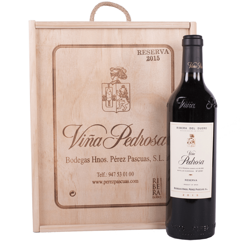 Viña Pedrosa Reserva 75cl Estuche Madera 3 Botellas