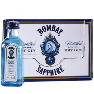 Gin Bombay Sapphire Miniatura Pack 12 Botellines 5cl