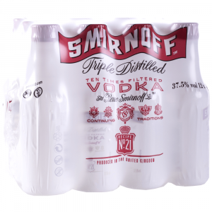 Vodka Smirnoff Rojo Miniatura Pack 12 Unidades 5cl