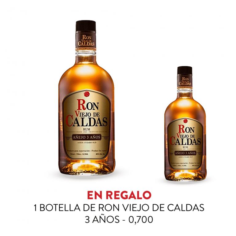 Promo Ron Viejo de Caldas 11 Bot. 70cl + 1 Botella de realo